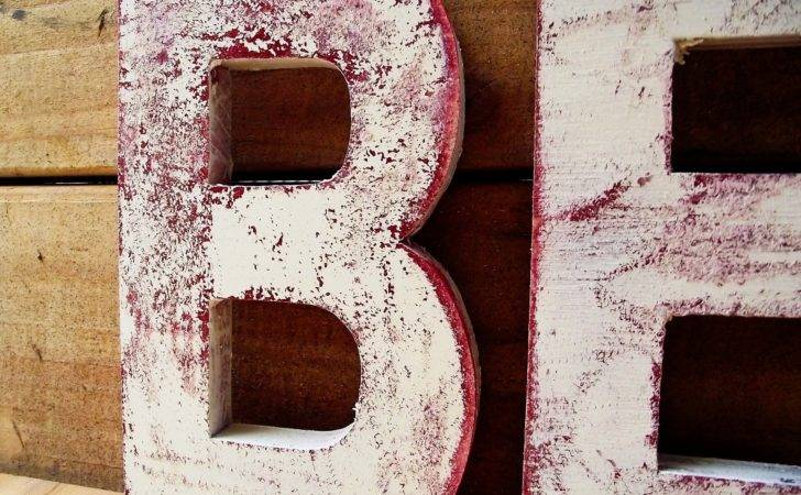 Distressed Wooden Letter Tutorial Cheltenhamroad