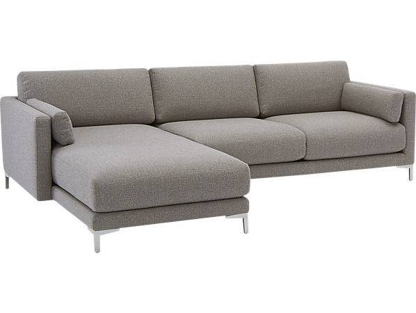 District Piece Sectional Sofa Smokey