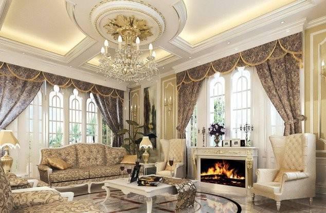 Divine Luxury Pop False Ceiling Decoration Living Room