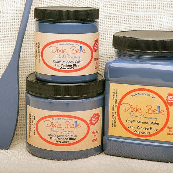 Dixie Belle Yankee Blue Chalk Mineral Furniture Home Decor Paint