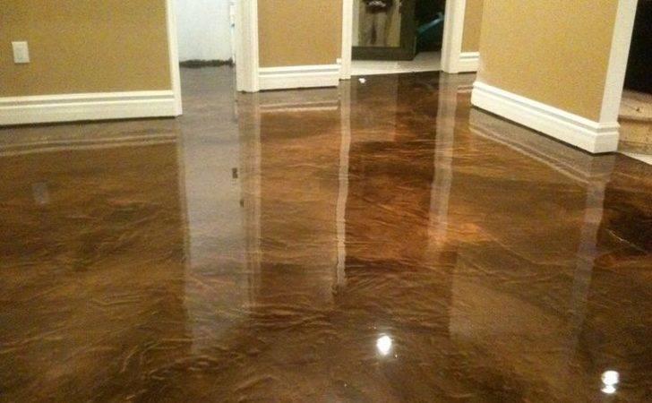 Diy Acid Stain Concrete Floors Garage Epoxy