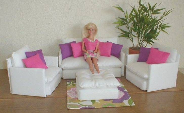 Diy Barbie Furniture Pinterest Black Pillows