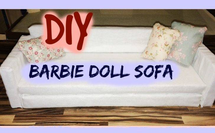 Diy Barbie Furniture Tutorial Doll Sofa Dollhouse