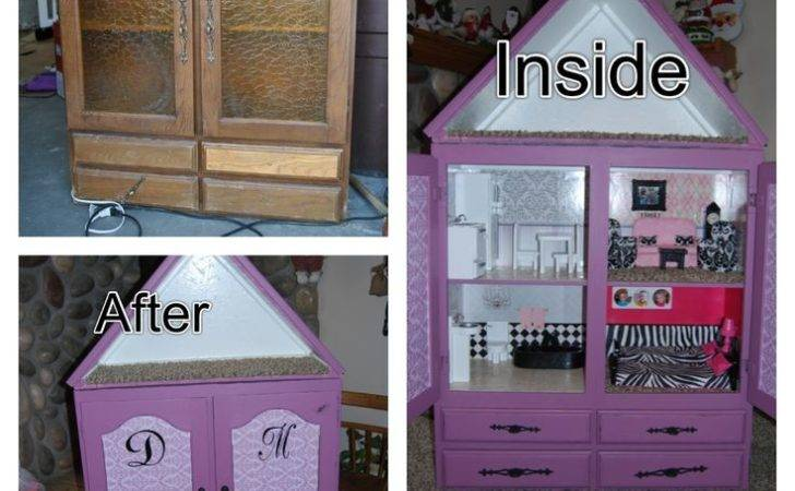 Diy Barbie House Convert Cupboard Into Can Put
