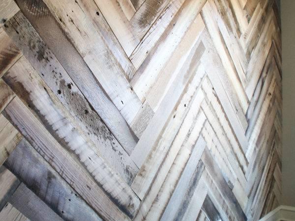 Diy Barn Wood Herringbone Wall Treatment Giveaway Shanty
