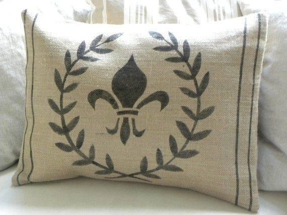 Diy Burlap Fabric Pillow Misc Projects Pinterest Cute Pillows