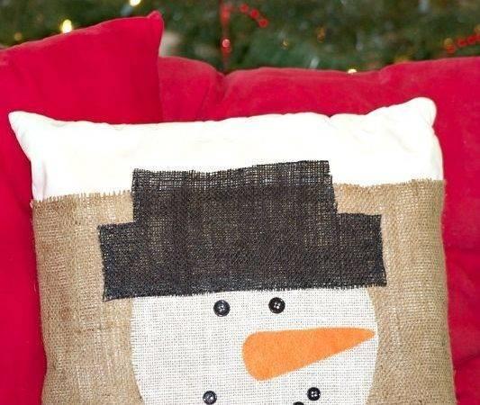 Diy Burlap Pillow Cover Pillows Covers Holiday Decor