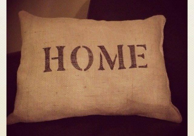 Diy Burlap Pillow One Down Pinterest Pillows