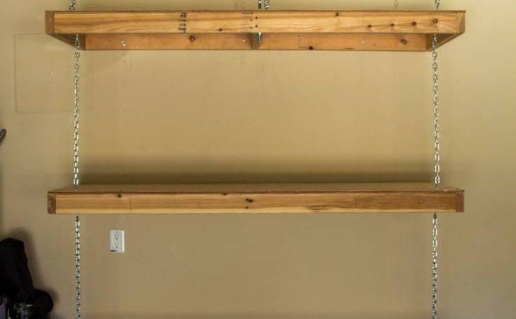 Diy Ceiling Hanging Shelves Lag Bolts Wall Stud Garage
