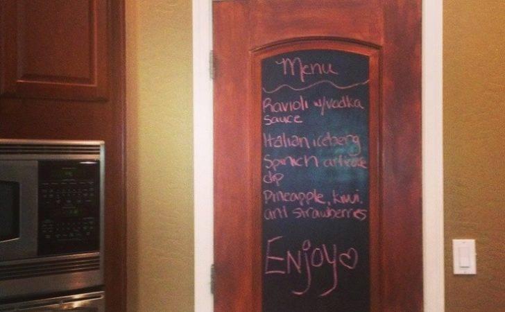 Diy Chalkboard Pantry Door Kitchen Remodel Pinterest