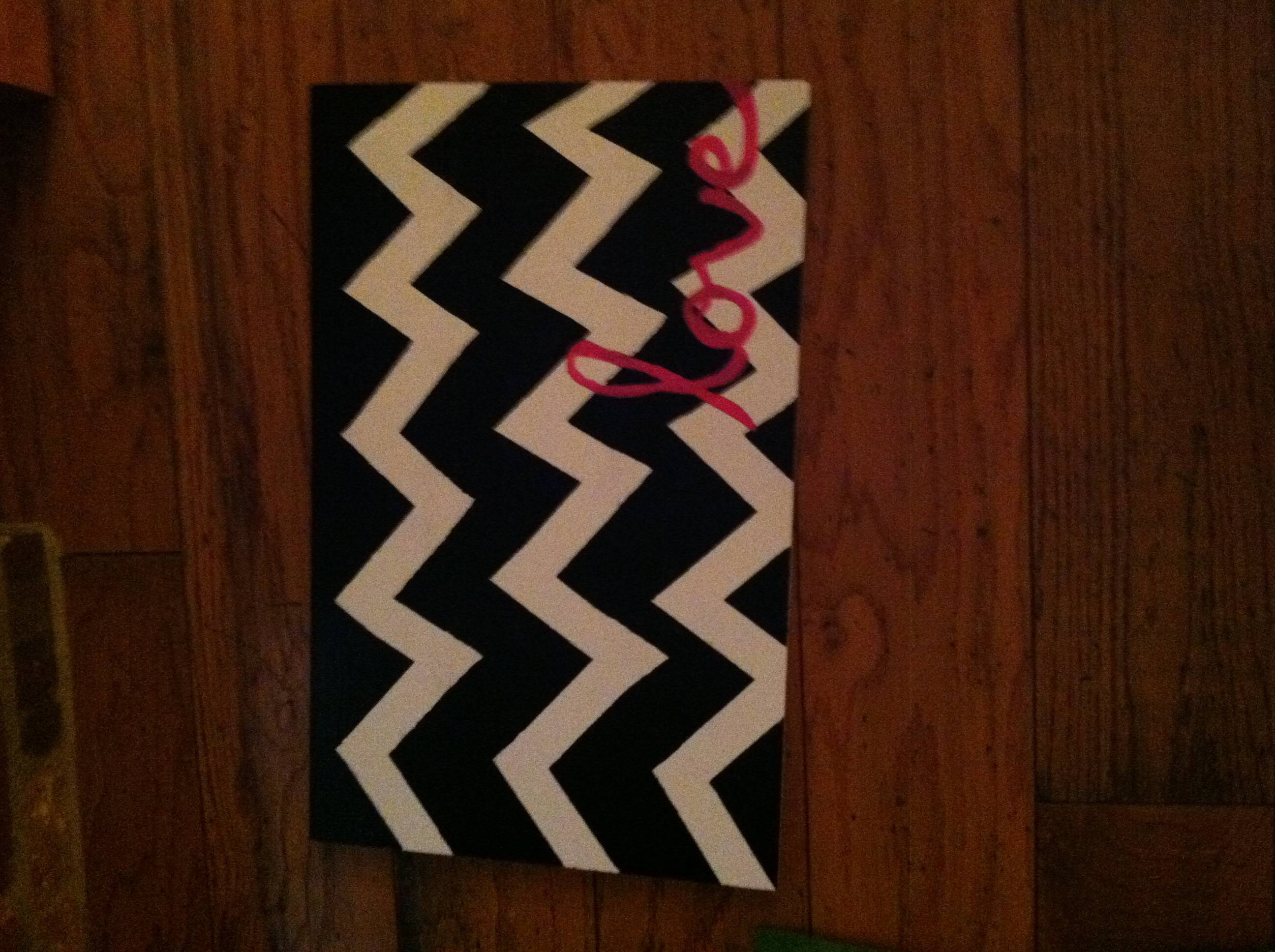Diy Chevron Pattern Painting House Stuff Pinterest