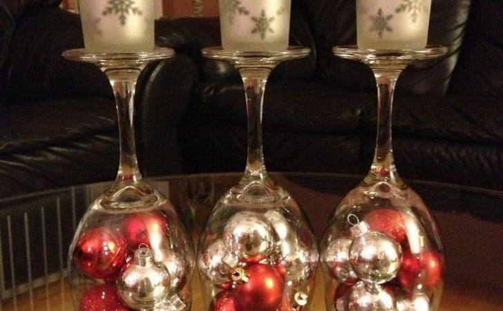 Diy Christmas Decorations Upside Down Wine Glass Dollar Store Mini
