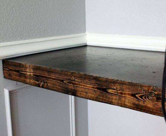 Diy Chunky Built Turn Into Rustic Floating Shelves