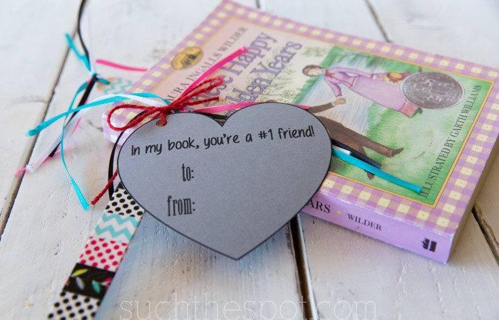 Diy Classroom Valentine Washi Tape Bookmarks Printable Such