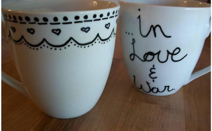 Diy Coffee Mug Sharpie Yarn Tell