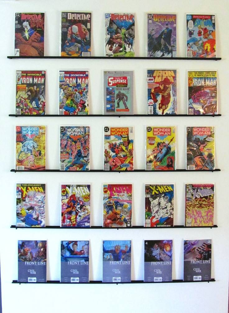Diy Comic Book Wall Display Just Used Mount Wire Closet