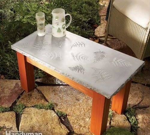 Diy Concrete Table Furniture Ideas Craft Projects