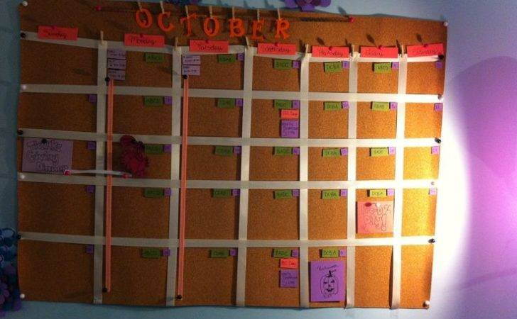 Diy Cork Board Calendar Crafts Pinterest