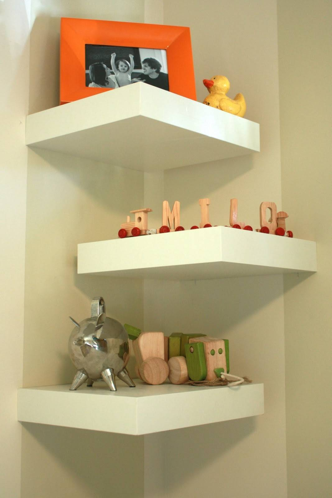 Diy Corner Shelves One Little Minute
