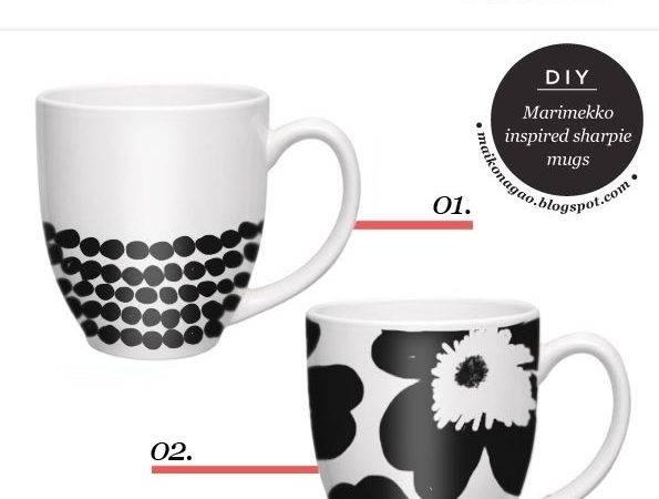 Diy Craft Fashion Design Blog Marimekko Inspired Sharpie Mugs
