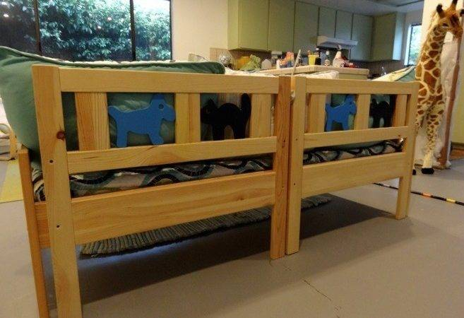 Diy Daybed Kids Playroom Recycled Ikea Kritter Toddler Beds