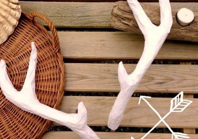 Diy Deer Antlers Craft Handmade Natural Pinterest