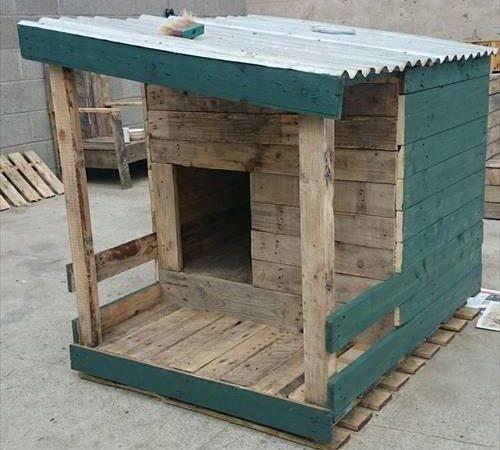 Diy Dog House Made Pallets Designs