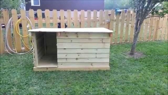 Diy Dog House Plans Made Pallets Pallet Design Ideas