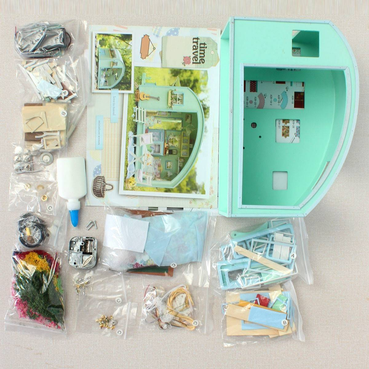 Diy Dollhouse Miniatures Cuteroom Wooden Miniature Kit