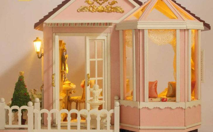 Diy Dollhouse Sweet Large Luxury Kids Furniture House Dolls