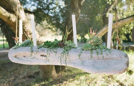 Diy Driftwood Candelabra Succulents Crafts
