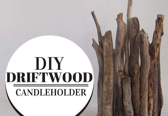 Diy Driftwood Candleholder Brings Home Rustic Summer Charm