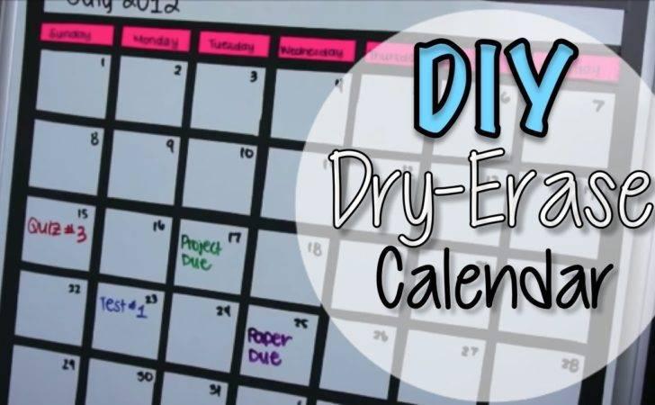 Diy Dry Erase Board Calendar Youtube