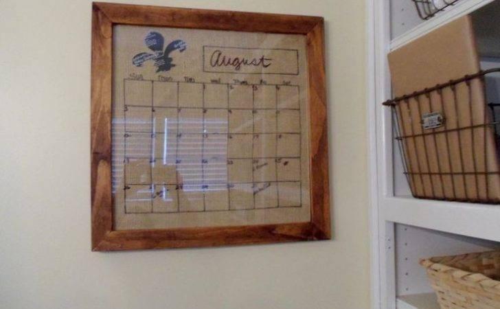 Diy Dry Erase Calendar Board