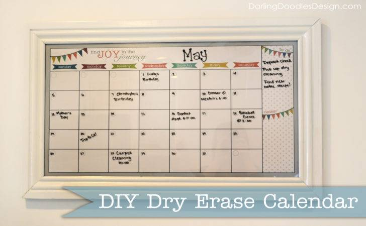 Diy Dry Erase Calendar Darling Doodles
