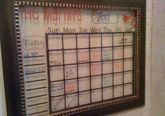 Diy Dry Erase Vinyl Calendar Organizaci Pinterest