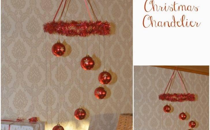 Diy Easy Make Christmas Balls Chandelier Aka Chymecindy