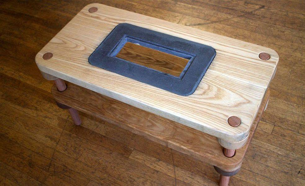 Diy Fireplace Coffee Table Cool Material