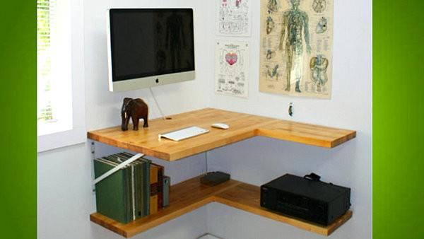 Diy Floating Corner Desk