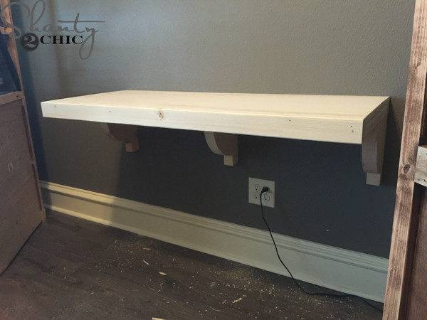 Diy Floating Desk Office Towers Shanty Chic