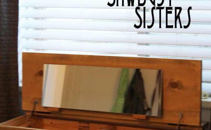 Diy Floating Desk Vanity Storage Sawdust Sisters