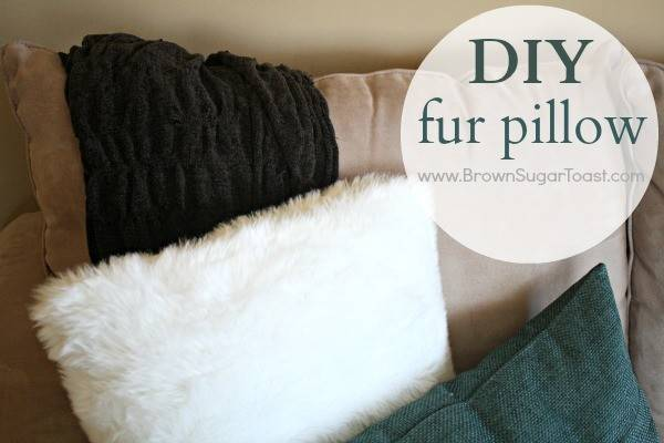 Diy Fur Pillow Step Instructions Make Your Own