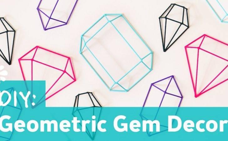 Diy Geometric Gem Decor Wall Art Sea Lemon Youtube
