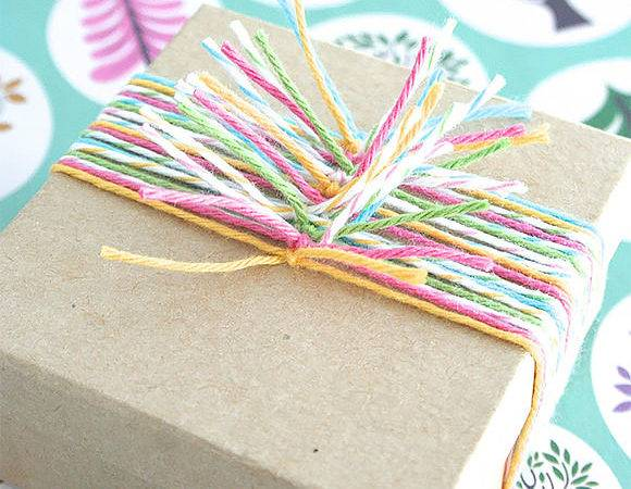 Diy Gift Wrap Ideas Multicolor Twine Knots