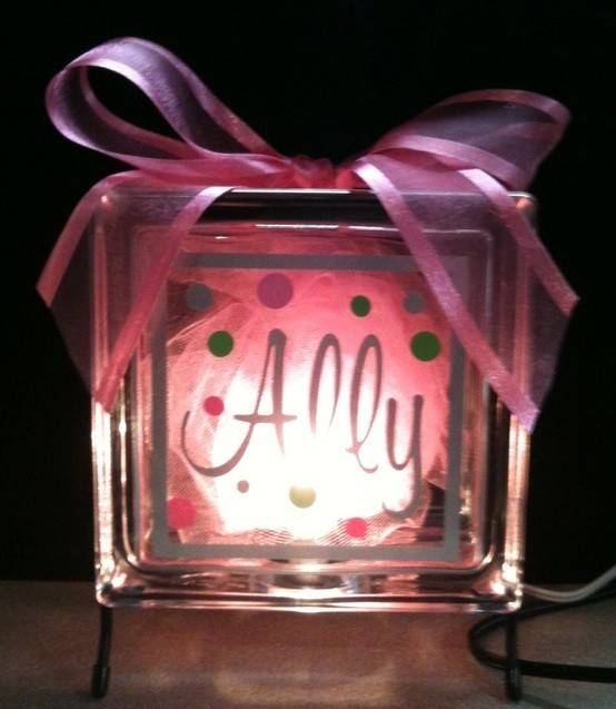 Diy Glass Block Nite Light Pinterest