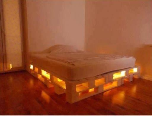 Diy Glowing Led Pallet Bed Diply