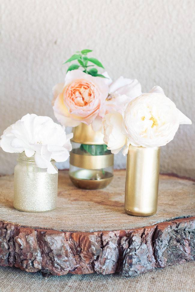 Diy Gold Glitter Vases Tutorial