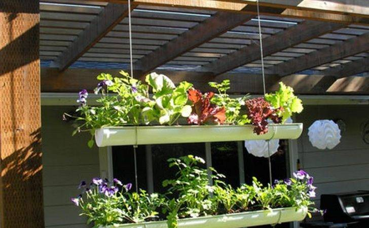 Diy Hanging Gutter Garden Owner Builder Network