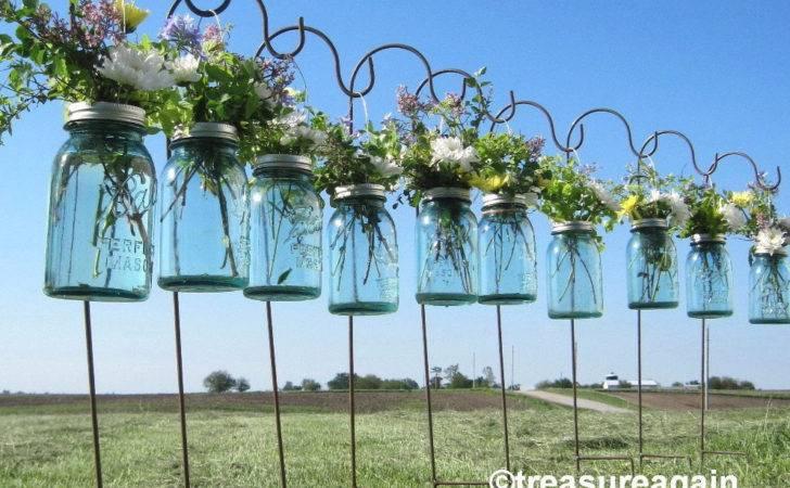 Diy Hanging Vases Ball Mason Jar Flower Frog Lids