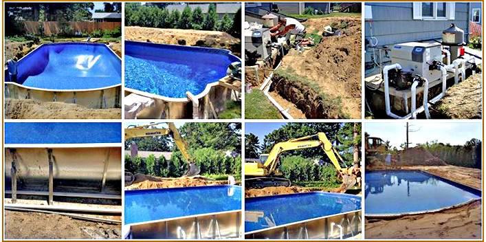 Diy Inground Pool Construction Week Work Spp Kit